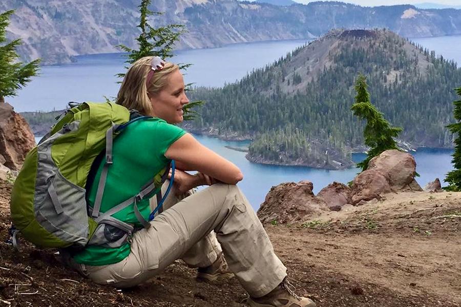 Alysse Bollier hiking